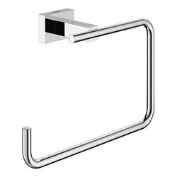 GROHE 40510001 ESSENTIALS CUBE TOWEL RING IN CHROME
