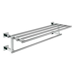 GROHE 40512001 ESSENTIALS CUBE MULTI-TOWEL RACK IN CHROME