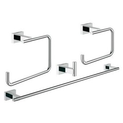 GROHE 40778001 ESSENTIALS CUBE MASTER BATHROOM ACCESSORIES SET 4-IN-1 IN CHROME