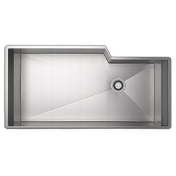 ROHL RGK3016SB LUXURY STAINLESS STEEL 35-1/8 INCH SINGLE BOWL KITCHEN SINK IN BRUSHED STAINLESS STEEL