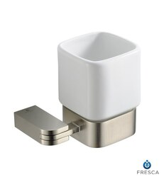 FRESCA FAC1314BN SOLIDO TUMBLER HOLDER - BRUSHED NICKEL