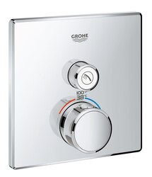 GROHE 29140000 GROHTHERM SMARTCONTROL SINGLE FUNCTION THERMOSTATIC TRIM WITH CONTROL MODULE IN STARLIGHT CHROME