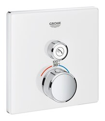 GROHE 29163LS0 GROHTHERM SMARTCONTROL SINGLE FUNCTION THERMOSTATIC TRIM WITH CONTROL MODULE IN MOON WHITE