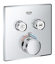GROHE 29141000 GROHTHERM SMARTCONTROL DUAL FUNCTION THERMOSTATIC TRIM WITH CONTROL MODULE IN STARLIGHT CHROME