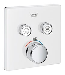 GROHE 29164LS0 GROHTHERM SMARTCONTROL DUAL FUNCTION THERMOSTATIC TRIM WITH CONTROL MODULE IN MOON WHITE