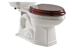ROHL U.2865WH PERRIN & ROWE DECO ELONGATED CLOSE COUPLED WATER CLOSET BOWL