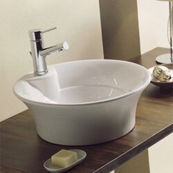 SCARABEO 8004-WH TWIST 18.3 INCHES BATHROOM SINK