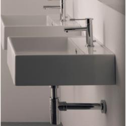 SCARABEO 8031/R TEOREMA 18.1 INCHES BATHROOM SINK