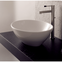 SCARABEO 8011 OVO 16.1 INCHES BATHROOM SINK