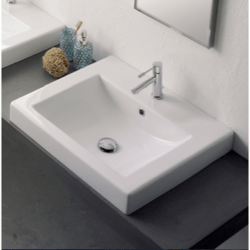 SCARABEO 8025/A SQUARE 20.1 INCHES BATHROOM SINK