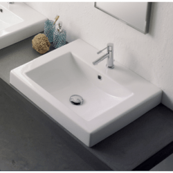 SCARABEO 8007/A SQUARE 23.6 INCHES BATHROOM SINK