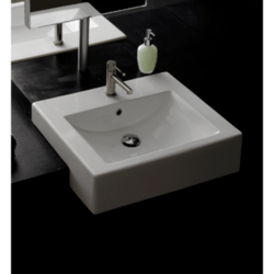 SCARABEO 8025/B SQUARE 20.1 INCHES BATHROOM SINK
