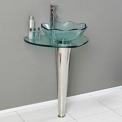FRESCA CMB1036-V NETTO 24 INCH MODERN GLASS BATHROOM PEDESTAL