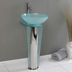 FRESCA CMB1053-V VITALE 17 INCH MODERN GLASS BATHROOM PEDESTAL