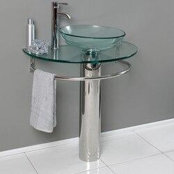 FRESCA CMB1060-V ATTRAZIONE 30 INCH MODERN GLASS BATHROOM PEDESTAL
