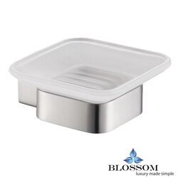BLOSSOM BA02 602 02 SOAP DISH IN BRUSH NICKEL