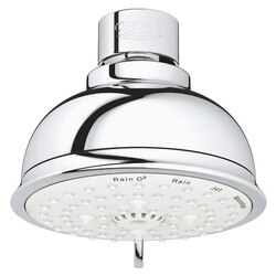 GROHE 27610001 NEW TEMPESTA RUSTIC HEAD SHOWER 4 SPRAYS IN CHROME