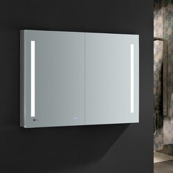 FRESCA FMC014836 TIEMPO 48 X 36 INCH TALL BATHROOM MEDICINE CABINET WITH LED LIGHTING AND DEFOGGER