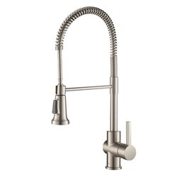 KRAUS KPF-1690 BRITT COMMERCIAL STYLE SINGLE HANDLE KITCHEN FAUCET WITH DUAL FUNCTION SPRAYHEAD