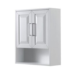 WYNDHAM COLLECTION WCV2525WCWH DARIA WALL-MOUNTED STORAGE CABINET IN WHITE