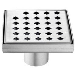 DAWN LMI050504 MISSISSIPPI RIVER SERIES SQUARE SHOWER DRAIN 5 INCH