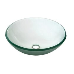 DAWN GVB84007FD 16-1/2 INCH ROUND FROSTED TEMPERED GLASS VESSEL SINK