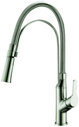 DAWN AB50 3364BN SINGLE-LEVER PULL-OUT KITCHEN FAUCET IN BRUSHED NICKEL