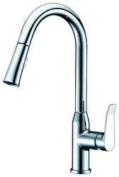 DAWN AB53 3498C SINGLE-LEVER PULL-DOWN SPRAY KITCHEN FAUCET IN CHROME