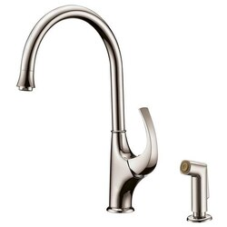 DAWN AB04 3276BN SINGLE-LEVER KITCHEN FAUCET WITH SIDE-SPRAY IN BRUSHED NICKEL