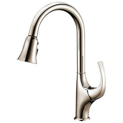 DAWN AB04 3277BN SINGLE-LEVER PULL-OUT SPRAY KITCHEN FAUCET IN BRUSHED NICKEL