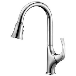 DAWN AB04 3277C SINGLE-LEVER PULL-OUT SPRAY KITCHEN FAUCET IN CHROME