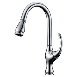 DAWN AB08 3157C SINGLE-LEVER PULL-OUT KITCHEN FAUCET IN CHROME