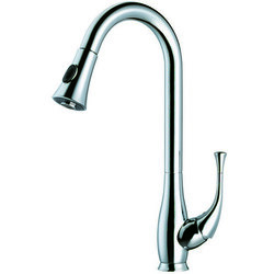 DAWN AB50 3091C SINGLE LEVER KITCHEN FAUCET WITH PUSH BUTTON PULL OUT SPRAY IN CHROME