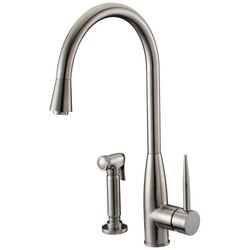 DAWN AB50 3178BN SINGLE-LEVER KITCHEN FAUCET WITH SIDE-SPRAY IN BRUSHED NICKEL