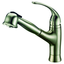 DAWN AB50 3708BN SINGLE-LEVER PULL-OUT SPRAY KITCHEN FAUCET IN BRUSHED NICKEL
