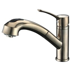 DAWN AB50 3711BN SINGLE-LEVER PULL-OUT SPRAY KITCHEN FAUCET IN BRUSHED NICKEL