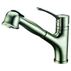 DAWN AB50 3712BN SINGLE-LEVER PULL-OUT SPRAY KITCHEN FAUCET IN BRUSHED NICKEL