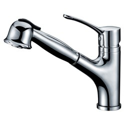 DAWN AB50 3712C SINGLE-LEVER PULL-OUT SPRAY KITCHEN FAUCET IN CHROME