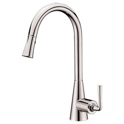 DAWN AB30 3788BN SINGLE-LEVER PULL-DOWN SPRAY SINK MIXER IN BRUSHED NICKEL