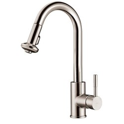 DAWN AB50 3316BN SINGLE-LEVER PULL-DOWN SPRAY SINK MIXER IN BRUSHED NICKEL