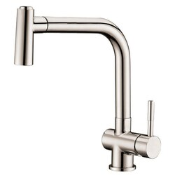 DAWN AB50 3670BN SINGLE-LEVER PULL-OUT SPRAY SINK MIXER IN BRUSHED NICKEL