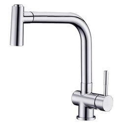 DAWN AB50 3670C SINGLE-LEVER PULL-OUT SPRAY SINK MIXER IN CHROME
