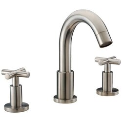 DAWN AB03 1513BN WIDESPREAD LAVATORY FAUCET WITH CROSS HANDLES FOR 8 INCH CENTERS IN BRUSHED NICKEL