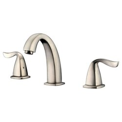 DAWN AB04 1272BN WIDESPREAD LAVATORY FAUCET WITH LEVER HANDLES FOR 8 INCH CENTERS IN BRUSHED NICKEL