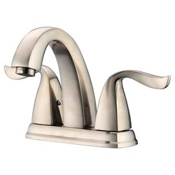 DAWN AB04 1273BN CENTERSET LAVATORY FAUCET FOR 4 INCH CENTERS IN BRUSHED NICKEL
