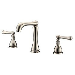 DAWN AB08 1155BN WIDESPREAD LAVATORY FAUCET FOR 8 INCH CENTERS IN BRUSHED NICKEL