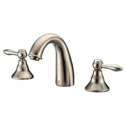 DAWN AB13 1018BN WIDESPREAD LAVATORY FAUCET IN BRUSHED NICKEL