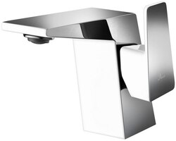 DAWN AB41 1470CPW SINGLE-LEVER LAVATORY FAUCET IN CHROME & WHITE
