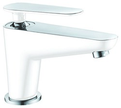 DAWN AB27 1600CPW SINGLE-LEVER LAVATORY FAUCET IN CHROME & WHITE
