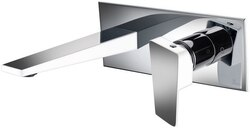 DAWN AB41 1472CPW WALL MOUNTED SINGLE-LEVER CONCEALED WASHBASIN MIXER IN CHROME & WHITE